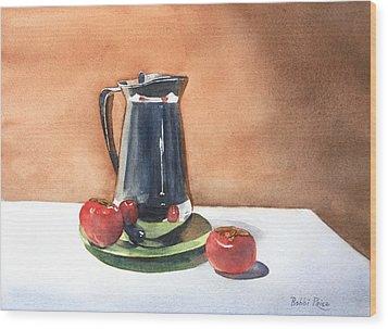 Vine Ripened Wood Print by Bobbi Price