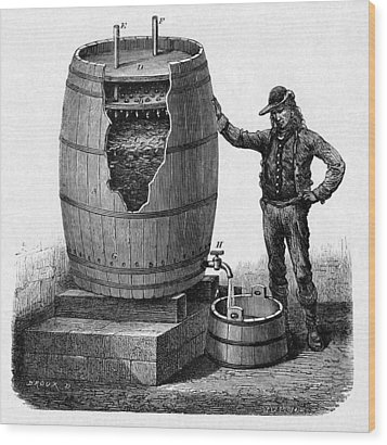 Vinegar Production, 19th Century Wood Print by Cci Archives