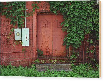 Wood Print featuring the photograph Vines Block The Door by Paul Mashburn