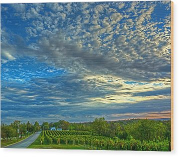 Wood Print featuring the photograph Vineyard Sunset II by William Fields