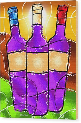 Vino Wood Print by Stephen Younts