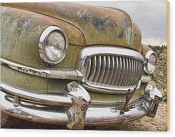 Vintage 1951 Nash Ambassador Front End 2 Wood Print by James BO  Insogna