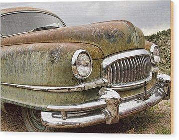 Vintage 1951 Nash Ambassador Front End Wood Print by James BO  Insogna