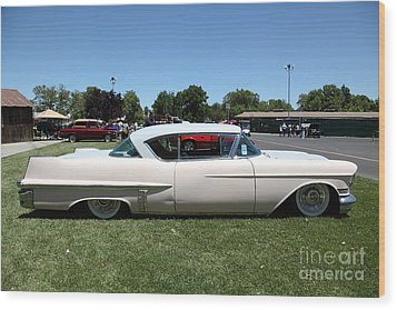 Vintage 1957 Cadillac . 5d16686 Wood Print by Wingsdomain Art and Photography