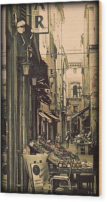 Vintage Bologna Italy Wood Print