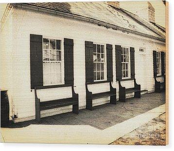 Vintage Building 2 Wood Print by Emily Kelley