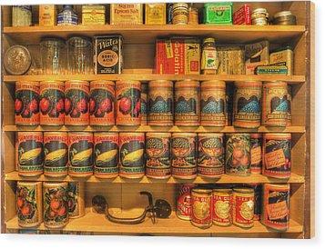 Vintage Canned Goods - General Store Vintage Supplies - Nostalgia Wood Print by Lee Dos Santos