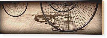 Vintage Car Sepia Wood Print by Radoslav Nedelchev