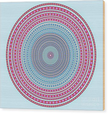 Vintage Color Circle Wood Print by Atiketta Sangasaeng