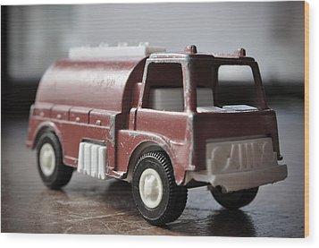 Vintage Fire Truck 2 Wood Print by Kathy Schumann