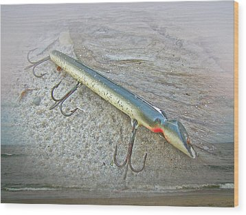 Vintage Fishing Lure - Floyd Roman Nike Lil Sandee Wood Print by Mother Nature