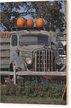 Vintage Harvest Wood Print by Kimberly Perry