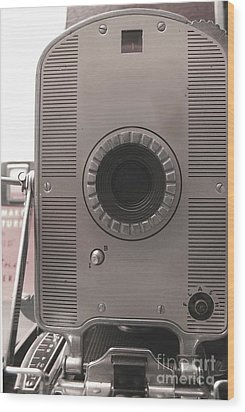 Vintage Instant Camera Wood Print by Yali Shi
