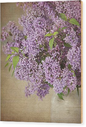 Wood Print featuring the photograph Vintage Lilac by Cheryl Davis