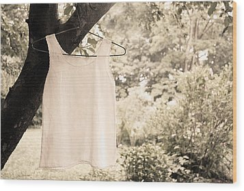 Wood Print featuring the photograph Vintage Linen Cami by Brooke T Ryan