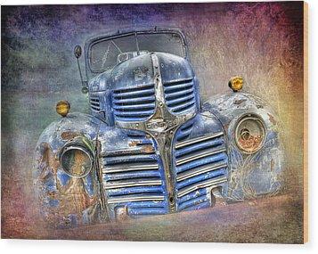 Vintage Rainbow Dodge Wood Print