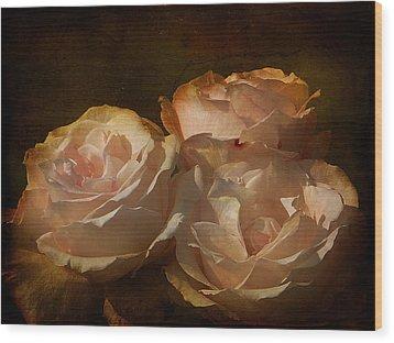 Vintage Rose Wood Print by Blair Wainman
