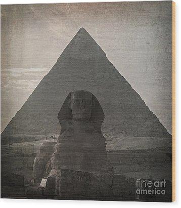 Vintage Sphinx Wood Print by Jane Rix