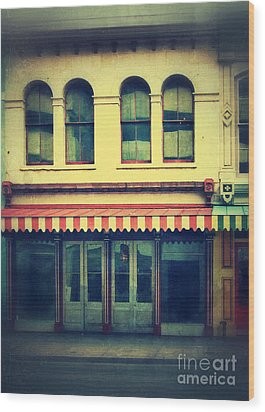 Vintage Store Fronts Wood Print by Jill Battaglia