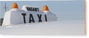 Vintage Taxi Wood Print