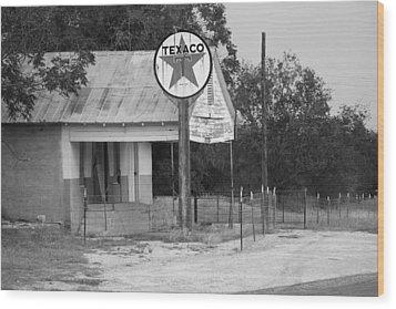 Vintage Texaco Wood Print