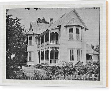 Vintage Victorian House Wood Print