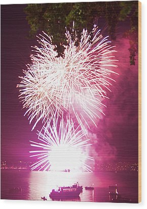 Wood Print featuring the photograph Violet Explosion by JM Photography
