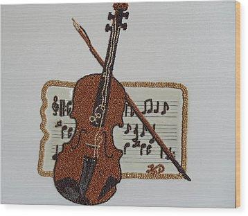 Violin Wood Print by Kovats Daniela