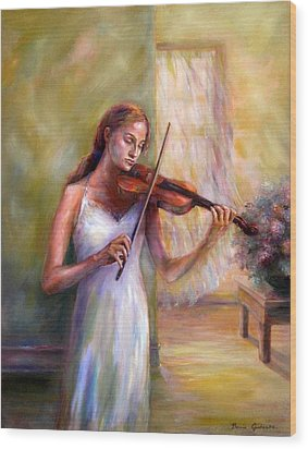Violin Sonata Wood Print by Bonnie Goedecke