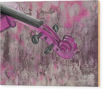 Violinelle - Pink 03b2 Wood Print by Variance Collections