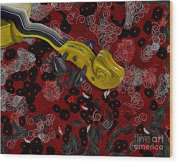 Violinelle - V02-12a Wood Print by Variance Collections