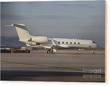 Vip Jet C-37a Of Supreme Headquarters Wood Print by Timm Ziegenthaler