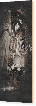 Virgin Mary Wood Print by Torgeir Ensrud