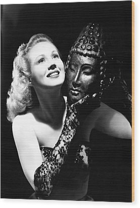 Virginia Mayo, Ca. Early 1940s Wood Print by Everett