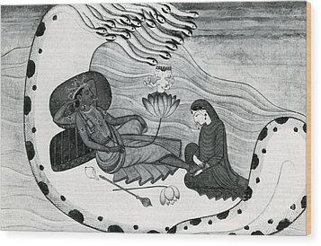 Vishnu And Lakshmi Wood Print by Photo Researchers