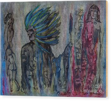 Visionary II Wood Print by Linda May Jones