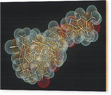Vitamin B12 Molecule Wood Print by Pasieka