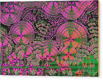 Vitamin C Crystals Spikeberg Wood Print by M I Walker