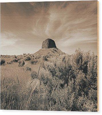Volcanic Peak, Central Oregon, Usa Wood Print by Mel Curtis