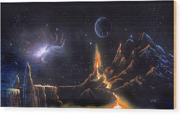 Volcanic Planet Wood Print