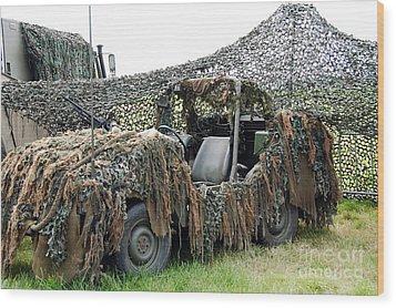 Vw Iltis Of The Special Forces Group Wood Print by Luc De Jaeger