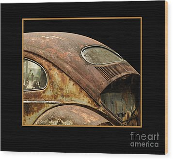 Vw Rust Bug Wood Print