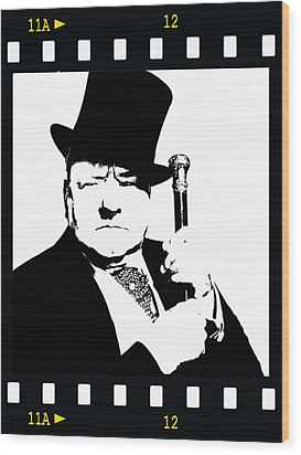 Wood Print featuring the painting W. C. Fields by Jann Paxton