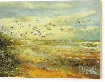 Wadden Sea Wood Print by Anne Weirich