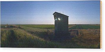 Wainfleet Control Tower Wood Print by Jan W Faul