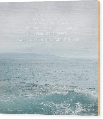 Waiola Water Of Life Wood Print by Sharon Mau