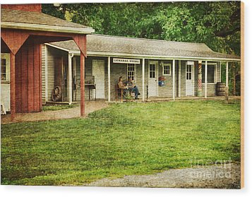 Waiting By The General Store Wood Print by Paul Ward