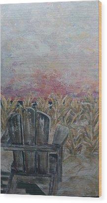 Waiting Wood Print by Doralynn Lowe
