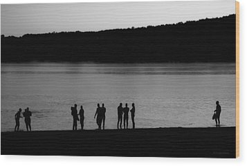Waiting For Sunrise Wood Print by Carol Hathaway