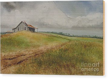 Waiting For The Summers Rain Wood Print by Charles Fennen
